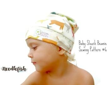 SLOUCHY BEANIE PATTERN - Baby Hat Pattern - Adult Beanie Pattern - Easy Sewing Pattern - Baby Photo Prop Pattern