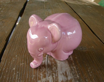 Rare JIE GANTOFTA Sweden porcelain Pink Elephant figurine / old Jie Keremik / Art Studio Ceramic figurine from JIE Gantofta / collectible