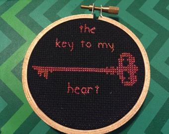 Embroidery Hoop Art The Key to My Heart