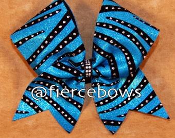 Wild Blue Yonder Cheer Bow