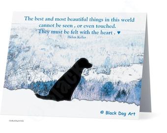 Black Labrador Quote card - Black Labrador Retriever , Black Lab card , Dog Art , Labrador art , Black Lab art . Quote card