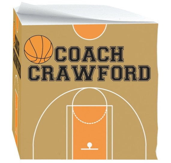 Gift for Basketball Coach Teachers Sports Note Cubes with Sticky Adhesive 700 Sheets Basketball Coach Personalized Sports Office