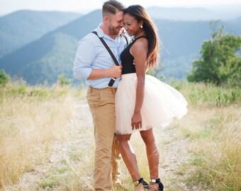 Blush Tutu Skirt  - Bridesmaid Dress - Womens Custom Skirt - Tulle by breauxsews - Handmade Skirt - Wedding Skirt - Tea Length - Tulle Skirt