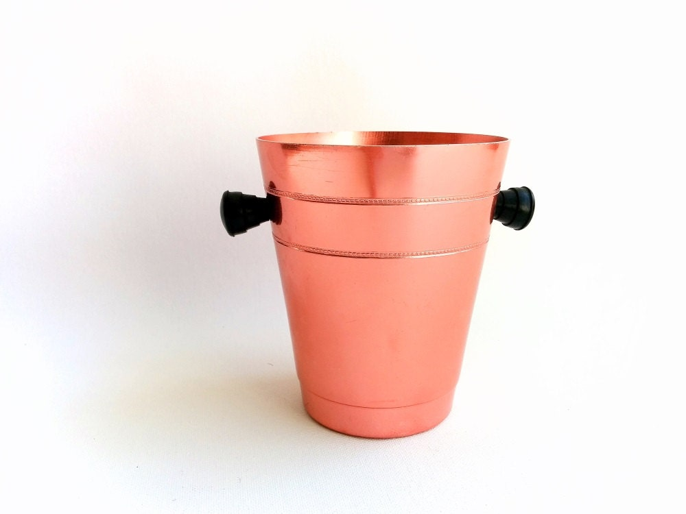 Vintage ice bucket pink home decor spanish vintage for How to decorate a bucket