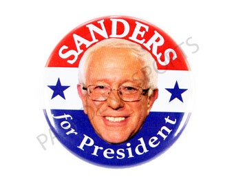 "2016 BERNIE SANDERS for PRESIDENT Campaign Button, 2.25"" Diameter bss"