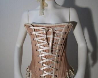 CORSET mod. 03, 18 century rococò  Marie Antoinette style - undergarments XVIIIsec -