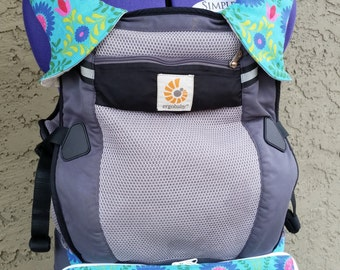 Baby Carrier Pouch - Teal Floral