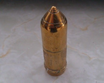 vintage brass trench art WW1 pow made small container