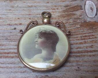 Antique photograph locket