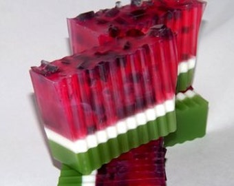 Fresh Picked Watermelon fragrance glycerin in 3-5oz detergent free soap bar