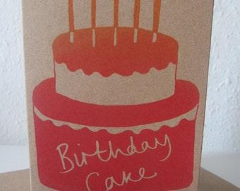 Birthday Cake Greetings Card