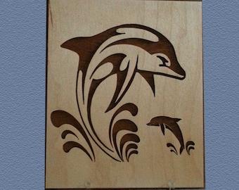 Dolphin Art Plaque (631AP)