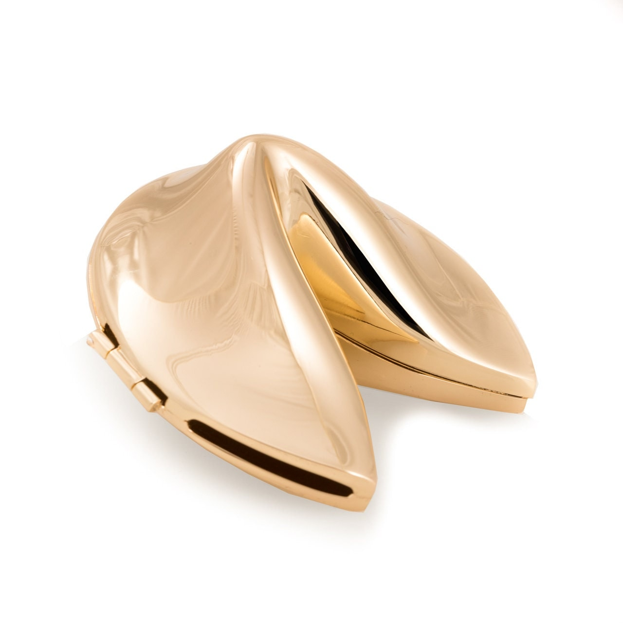 Gold fortune cookie box for Fortune cookie jewelry box