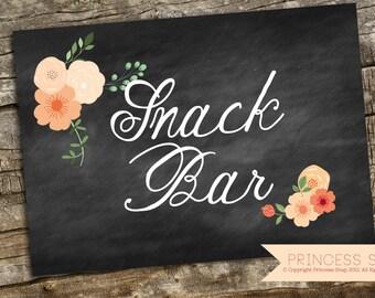 Snack Bar Sign Etsy