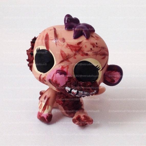 Littlest pet shop monkey toy custom ooak lps zombie walking - Petshop singe ...