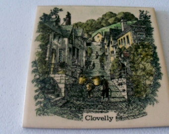 Made In England Tile Painting Of Clovelly