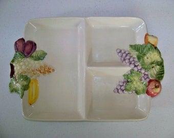 Portugal Platter Fruit Design Serving Divided Server