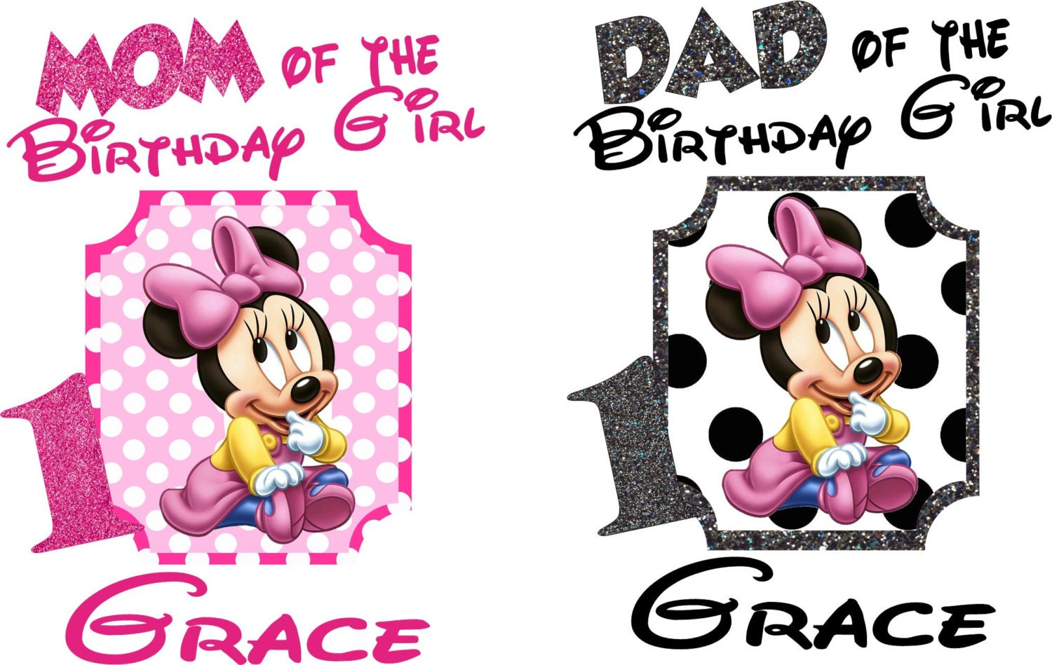 Dad And Mom Mickey Minnie Shirts Set By