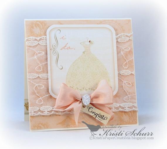Beautiful Wedding Gifts: Wedding Card Beautiful Wedding Dress Congratulations Card For