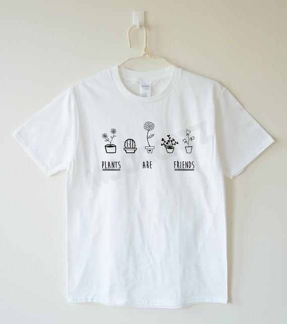 plants are friends tshirt plants tshirt word tee shirt by moodcatz. Black Bedroom Furniture Sets. Home Design Ideas