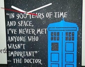 Awesome Dr./ doctor who canvas Clock