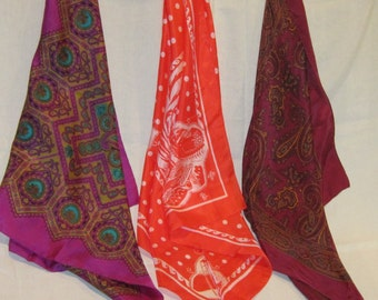 Vintage Designer Silk Scarves