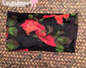 floral twisted headband