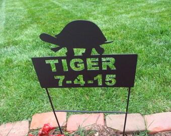 Box Turtle Memorials, Pet Memorials, Pet Memorial, Metal Pet Memorials, Grave Markers, Pet Cemetery Marker, Turtle Crossing, Turtle Memorial