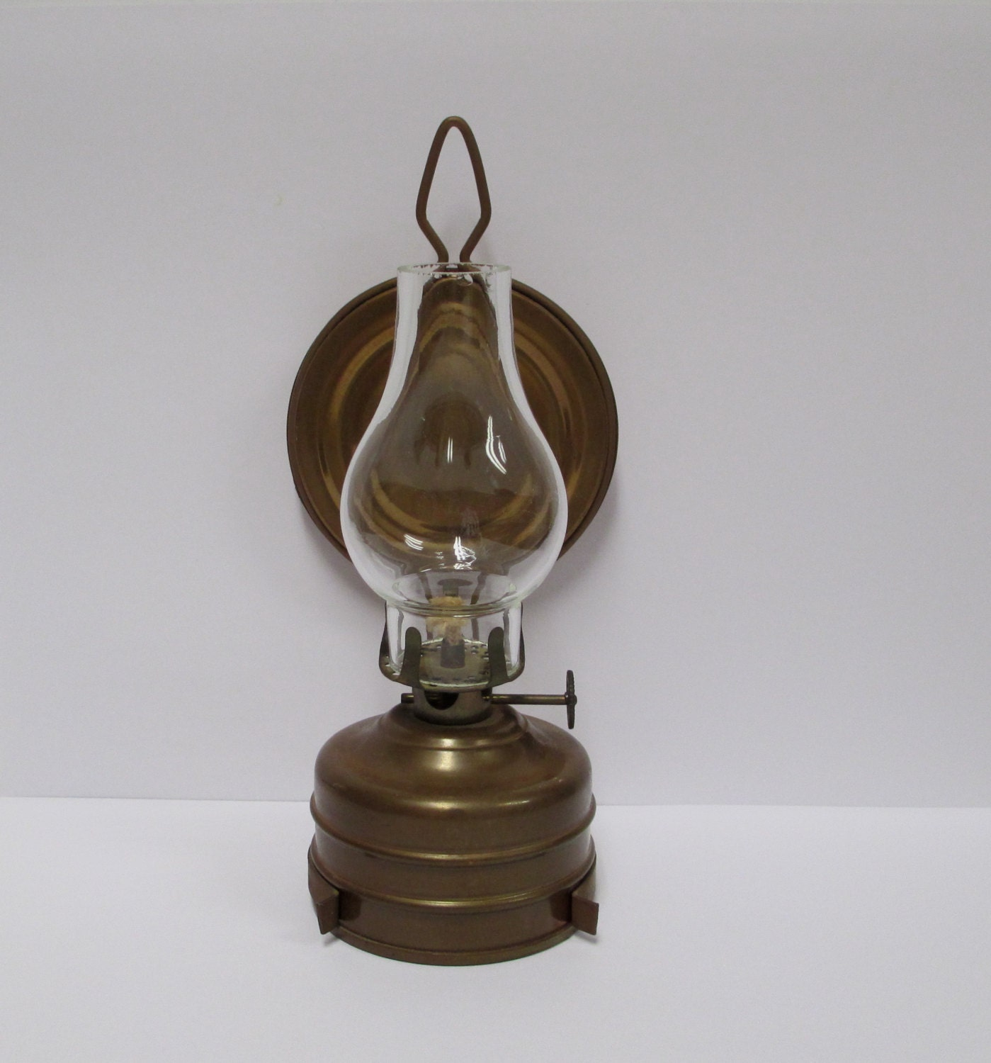 Wall Mounted Kerosene Lanterns : German Copper Oil Lamp All Original Never Used Antique