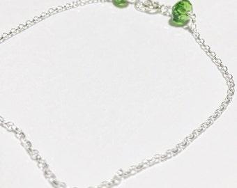 Fern Green Swarovski Bracelet
