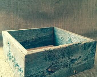 Wood box, rustic wood box, wood crate, reclaimed wood box