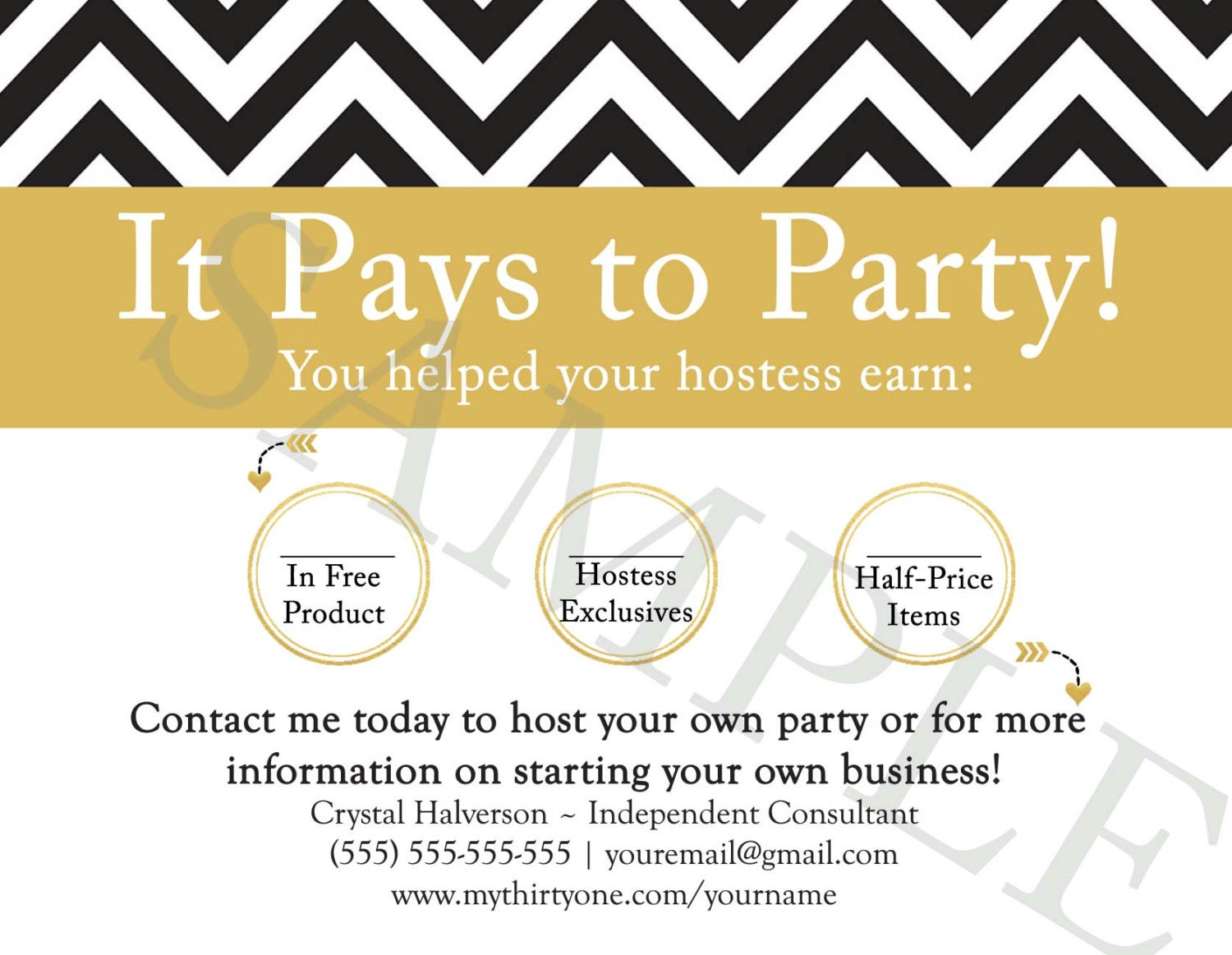 New personalized pays to party cards made for thirty one zoom magicingreecefo Image collections