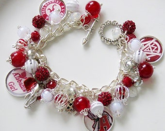 University of Alabama Crimson Tide Handcrafted Charm Bracelet