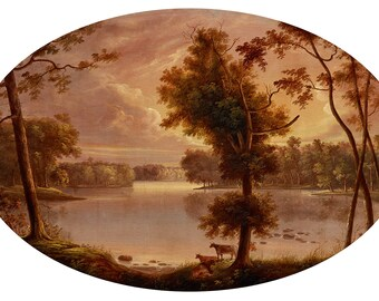 "George Winter : ""Landscape near Lafayette"" (after 1850) - Giclee Fine Art Print"