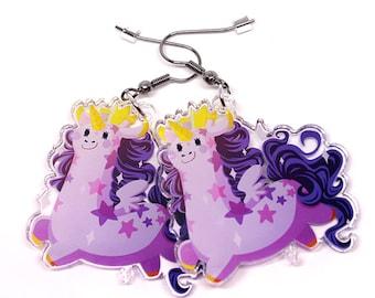 Mystical Girafficorn Earrings, giraffe earrings, giraffe, cute giraffe, giraffe jewelry, unicorn charm, unicorn, pegasus, cute animals