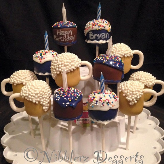 Birthday Cake & Beer Mugs 21st Bday Cake Pops Adult By