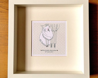 Personalised Wedding Gifts Glasgow : Where It all Began Personalised Art/Gift by LittleMushroomCards