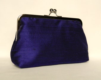 Purple Clutch, Silk Clutch, Purple Wedding Clutch, Purple Bridal Clutch,Purple Bridesmaid Clutch, Bridesmaids Gift, Evening Clutch