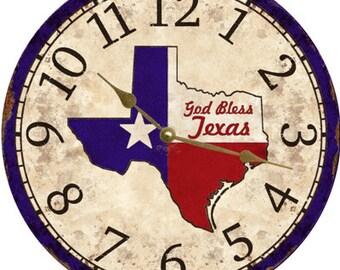 Texas Clock-God Bless Texas