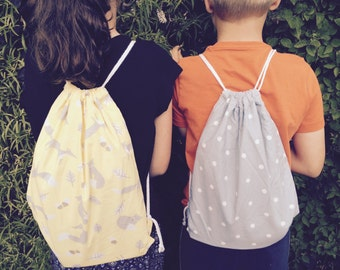 Book Bag Swim Bag  Lunch Bag or Back Pack with waterproof lining