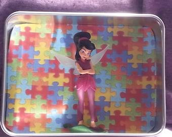 Vidia-Disney Fairy Autism Awareness Mini Shadow Box