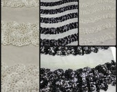 Sequin Lace Fabric on Polyester Mesh Two Colors