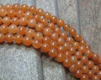 6 mm Red Aventurine Beads, full strand - Item B0049