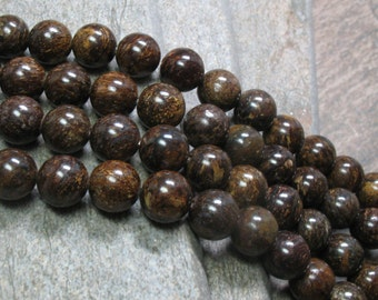 Bronzite Beads, 10 mm - Full strand - Item B0176