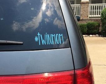 Twin Mom Car Decal, Mom of Twins, #twinmom, Boy Twins, Girl Twins, Twins Car Decal
