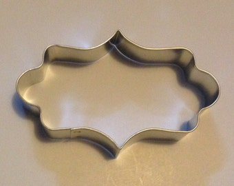 """4 1/2"""" Elongated Plaque Cookie Cutter"""