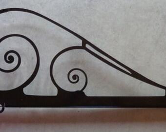 Metal sign hanger