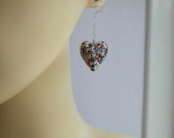 Millefiori Earrings - Venetian Murano Glass