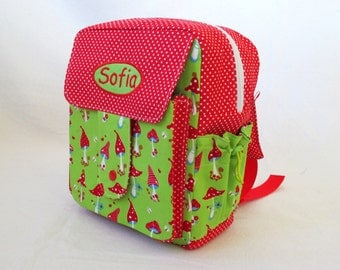 Backpack design fly agaric