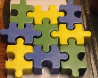 Lavender scented puzzle soap